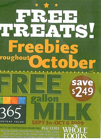 Whole Foods Freebie Flyer  Southern Savers