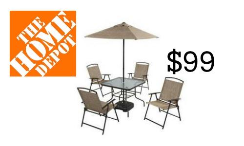 Home Depot: 7 Piece Patio Set, $99 :: Southern Savers