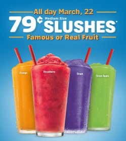Enchanting Be Sure To Mark Your Calendars To Get Irmedium Sonic Slushes If A Fan On Choose From Over Different Flavorsor Sonic Slushes All Sourn Savers