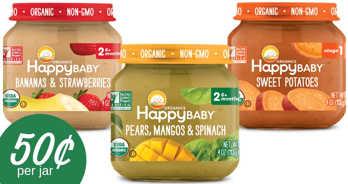 Happy Baby Coupon Makes Organic Baby Food 50 Per Jar