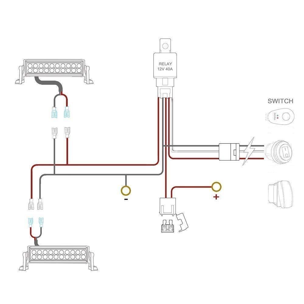 dual light bar wiring harness