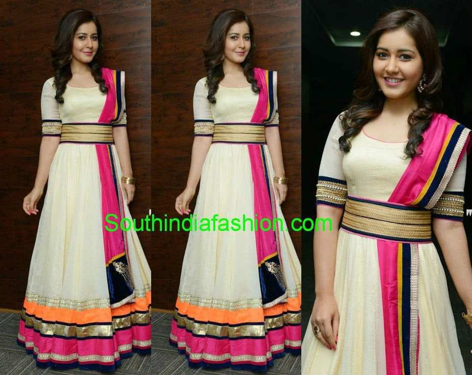 Raashi In Floor Length Anarkali South India Fashion