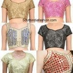 Latest Blouse Designs Mirror Work Blouse