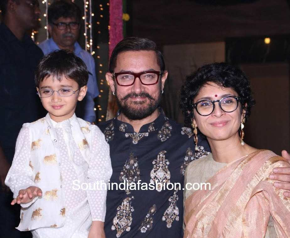 Aamir Khan39s Family At Their Diwali Party South India