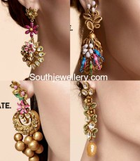 Antique Gold Earrings - Jewellery Designs