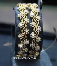 Diamond Bangles latest jewelry designs - Jewellery Designs