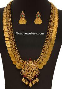 Antique Gold Kasu Mala - Jewellery Designs
