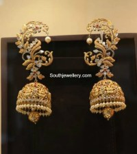 Antique Gold Lakshmi Jhumkas - Jewellery Designs