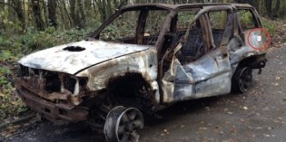 It's a burnt out car, but is it art?