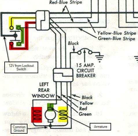 Rear Rear Drivers Side Power Window Doesn\u0027t Work - Vintage