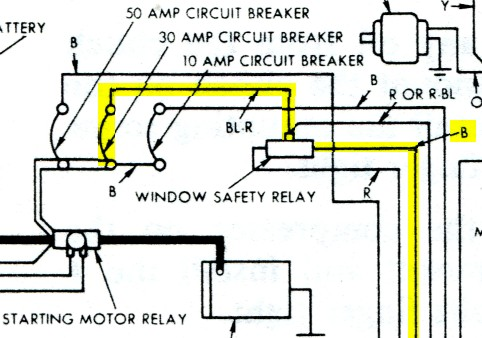 Windows Wiring Diagram For 196364 Ford Thunderbird Index listing