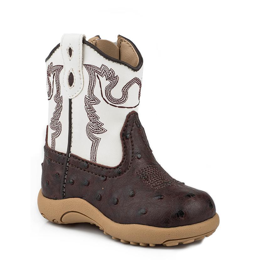 Infant39s Faux Ostrich Cowboy Boot