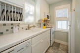The carriage house includes a fully equipped kitchen.