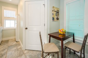 The fully equipped carriage house is perfect for guests or rental income.