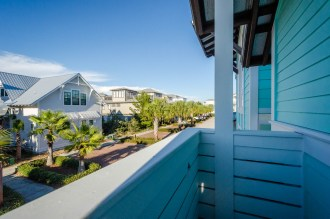 The balconies offer quaint views across Seacrest Beach.