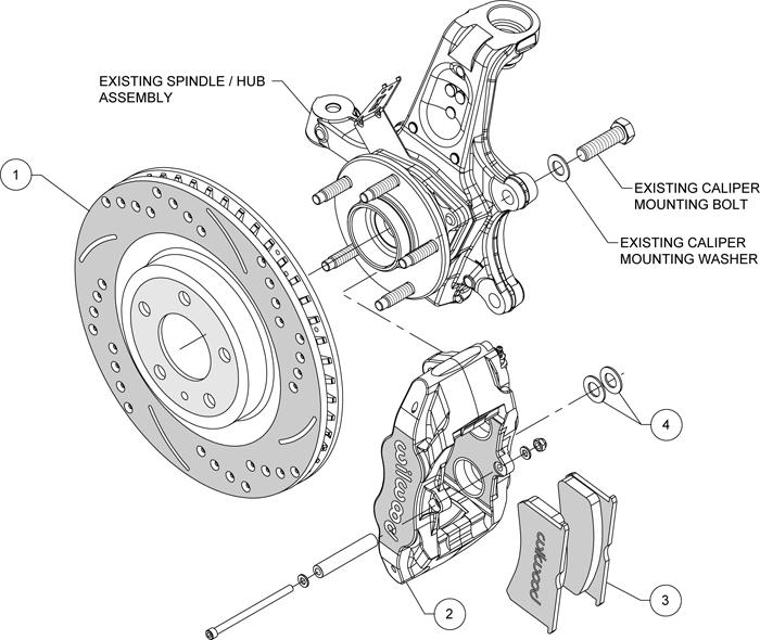 diagram of rotors calipers