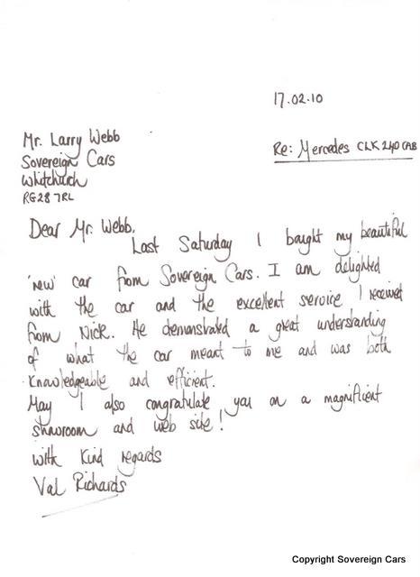 sale letter for car - Brucebrianwilliams