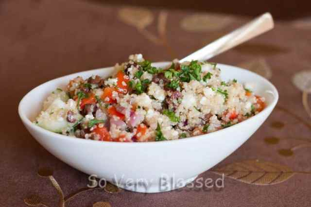 Greek Quinoa Salad : So Very Blessed