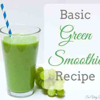 Basic Green Smoothie Recipe : So Very Blessed