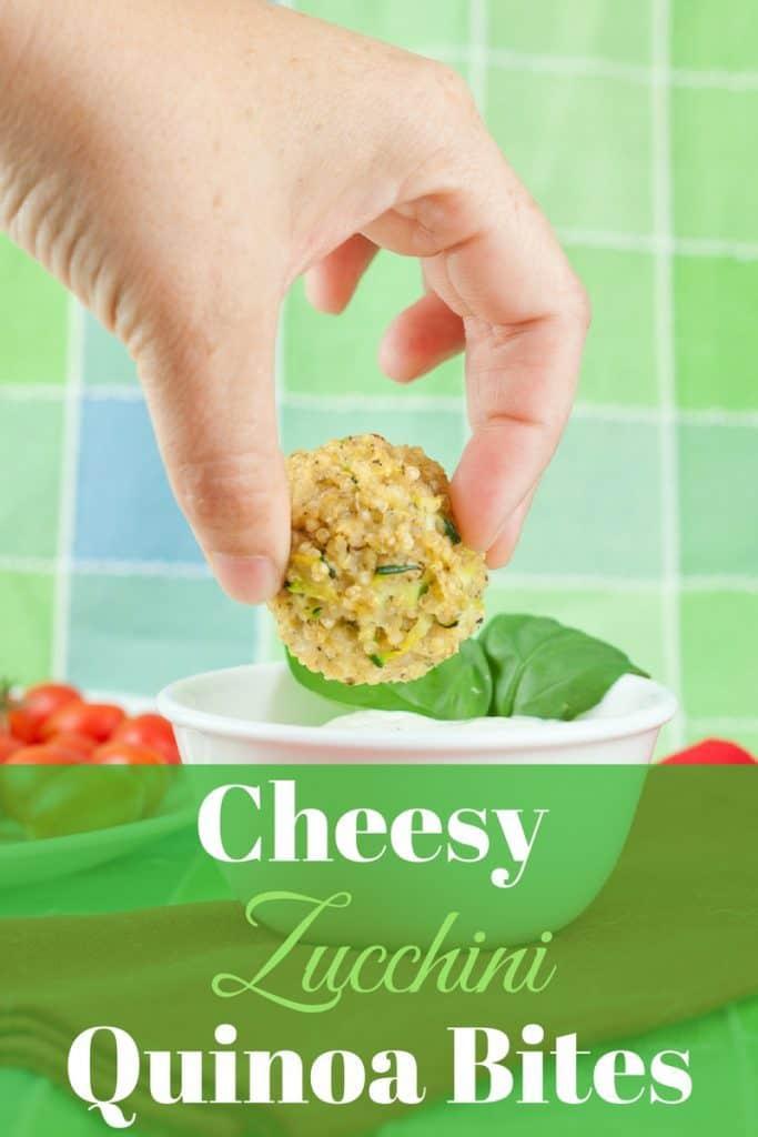 Cheesy Zucchini Quinoa Bites Recipe