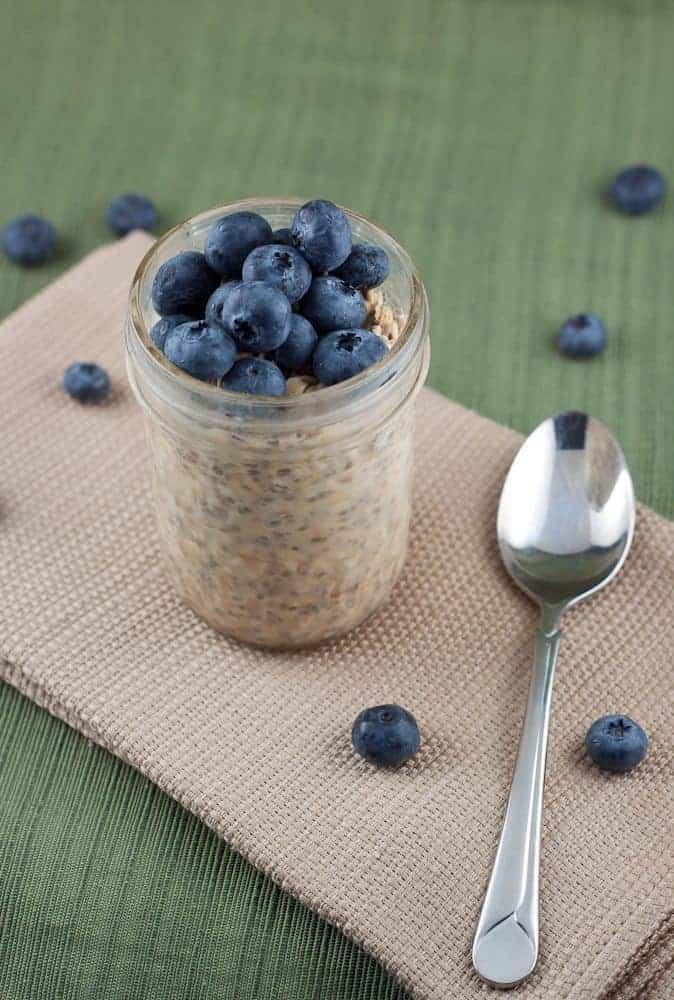 Peanut Butter & Blueberry Overnight Oats Recipe