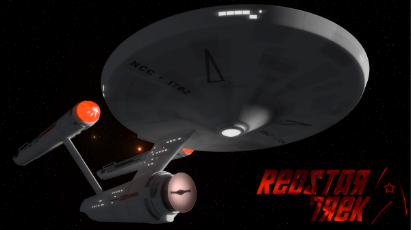 rendering of the original series Enterprise, with Soviet markings