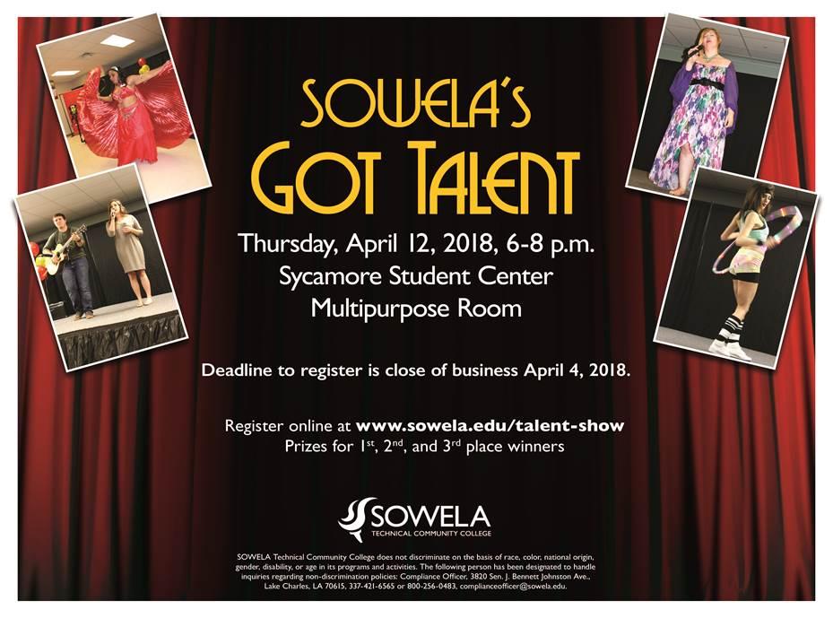 Talent Show Spring 2018 SOWELA Technical Community College