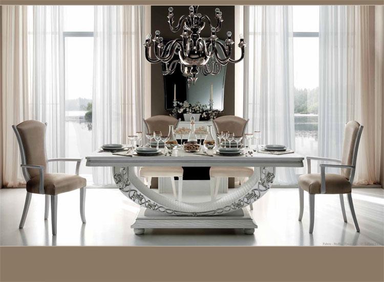 Luxus Esstisch Ausziehbar Hochglanz Esszimmer Miro Klassische   Esszimmer  Luxus