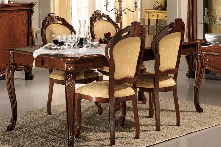 Esstisch Fest 200x100 cm + 6 Stühle Italienische Klassische Stil - klassisch italienischen mobeln