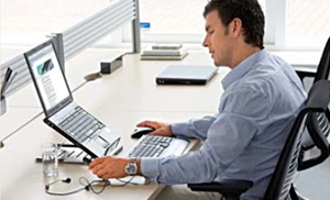 Image showing a semi-mobile office worker