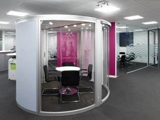 telent head office refurbishment office pod image