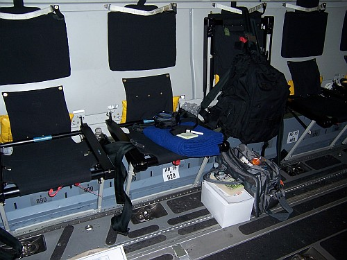 What types of military aircraft I may fly on and the seating - a seating