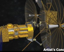 Artist's impression of a PHOENIX servicing satellite (Credits: DARPA).