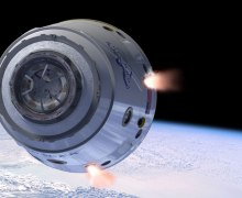 Artist's conception of Dragon escape system firing (Credits: SpaceX).