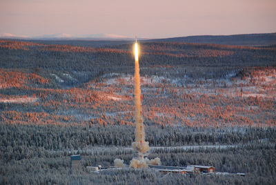 Texus 48 Launching from Esrange Space Center (Credits: ESA).