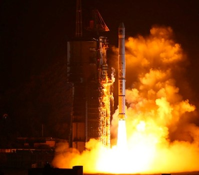 BieDou-2 Launching atop a Long March 3A (Credits: Chinese Defense Ministry).