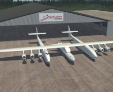 An artist's impression of the new Stratolaunch air-launched system (Credits: Scaled Composites).