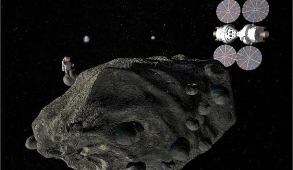There are different concepts for reaching asteroids, some including ISS (Credits: Lockheed Martin).