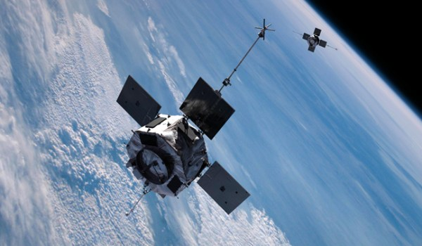 Artist concept of the twin Radiation Belt Storm Probes spacecraft, scheduled for launch in August 2012 (Credit: NASA).