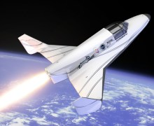 An artists depiction of the Lynx suborbital spaceplane (Credits: XCOR).