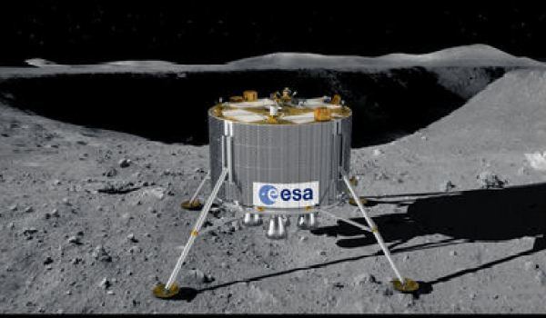 The ESA's lunar lander will use the lidar landing technology in 2018 (Credits: ESA TV)