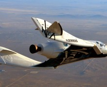 Virgin Galactic's SpaceShipTwo completes its first powered glide test (Credits: Virgin Galactic).