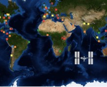 Locations of 2013 Space App Challenge events (Credits: openNASA).