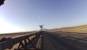 Low density supersonic accelerator tests Mars landing gear (Credits: JPL).