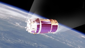 Japanese cargo vehicle HTV re-entry into Earth atmosphere