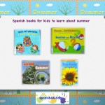 Spanish books for children to learn about summer