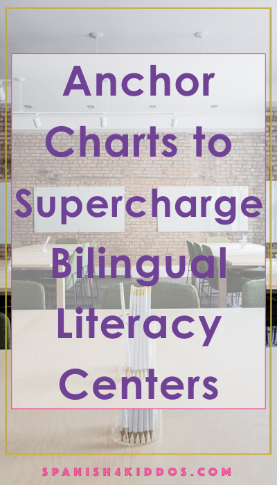Anchor charts to supercharge your bilingual literacy centers