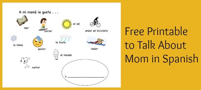 Spanish Mothers Day Printable Activity - Spanish Playground