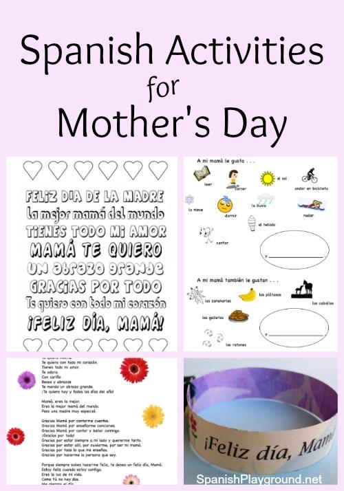 Spanish Mother\u0027s Day Activities - Spanish Playground
