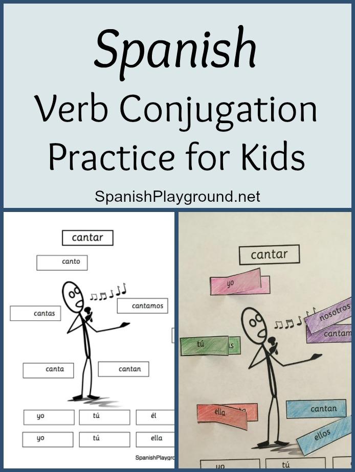 Spanish Verb Conjugation Practice for Kids - Spanish Playground